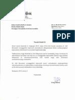 Országgyűlés Elnöki Titkárságának válaszlevele Juhos László elnöknek
