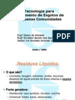 Tecnologias para Tratamento de Esgotos de pequenas comunidades12.ppt