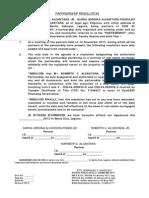Partnership Resolution