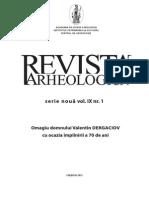 Revista Arheologică, SN, Vol. IX, nr. 1. 2013