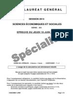 Sciences Éco Et Sociales_série ES_spécialité