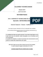 Mathématiques_série STL Biotechnologies