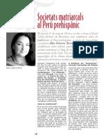 Societats Matriarcals Perú Prehispànic