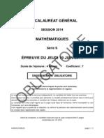 Mathématiques Série S Obligatoire