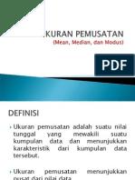 Ukuran Pemusatan Data aplikasi