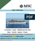 96 Ore de Vanzari Msc Cruises Msc Preziosa 468