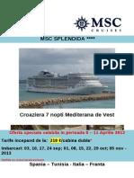 96 Ore de Vanzari Msc Cruises Msc Splendida 995