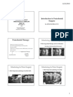 Peri 765 ~ 13 Introduction to Periodontal Surgery 2013 6 slides per page