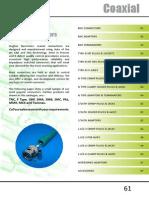 Hughes Electronics 2014 catalogue - Coaxial Connectors Section