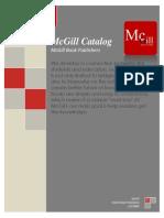 McGill Book Pubishers Catalog