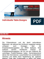 Individuelle Table Designs