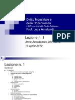 Il Marchio Lezione 1 13 Aprile 2012 Appunti Di Diritto Industriale