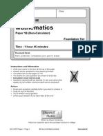 2012 Edexcel Foundation B Paper 1