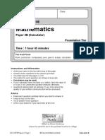 2012 Edexcel Foundation B Paper 2
