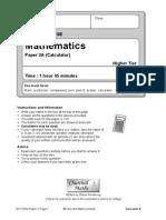 2012 Edexcel Higher a Paper 2