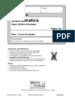 2012 Edexcel Higher B Paper 1