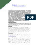 Latest Internship Report on Haleeb Foods