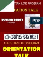 CLP Orientation Talk