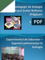 experimentul de laborator