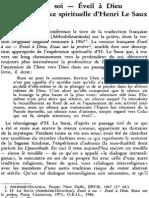 Jacques Dupuis Sj, Éveil à Soi - Éveil à Dieu Dans l'Expérience Spirituelle d'Henri Le Saux NRT 111-6 (1989) p.866-879