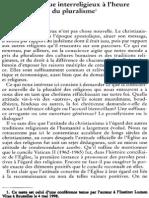 Jacques Dupuis Sj, Le Dialogue Interreligieux à l'Heure Du Pluralisme NRT 120-4 (1998) p.544-563