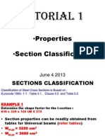 Tutorial 1- Properties and Section Classification