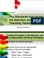 Standards That Govern in the Use and Selection of Techniques
