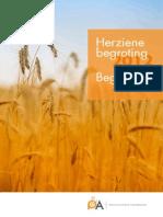 Herziene Begroting 2012 Begroting 2013 PA