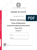 Invalsi Terza Media Matematica 2014