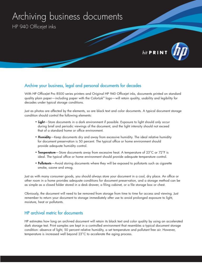 Archiving Bus Docs HP Whitepaper FINAL   Hewlett Packard ...
