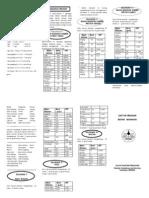 Leaflet Daftar Penukar Makanan