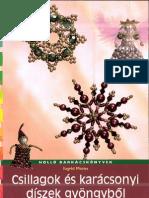 Csillagok és karácsonyi diszek gyöngyből (Holló barkácskönyvek)