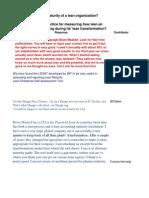 Measuring Maturity of a Lean Organization J Rosen 3-31-09