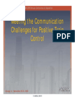 Meeting the Communication Challenges for Positive Train Control