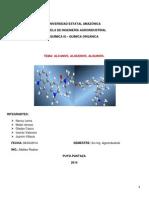 Alcanos Alquenos y Alquinos Presentacion