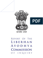 Justice Liberhan Commission Report on Babri Demolition
