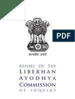 Justice Liberhan Commission Report on Babri Demolition