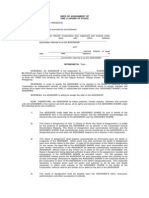 Deed of Assignment to BOD