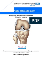 Total Knee Replacement - Patient Information Booklet