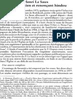 Jacques Scheuer Sj, Henri Le Saux, Moine Chrétien Et Renonçant Hindou NRT 116-2 (1994) p.238-245