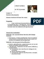 Proyecto Nuevas Maneras de Hacer Las Cosas.