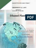 Environmental Laws to Ethanol Plants