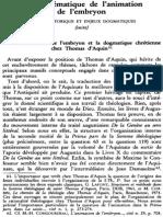 La Problématique de l'Animation de l'Embryon. Survol Historique Et Enjeux Dogmatiques (Suite) NRT 113-2 (1991) p.239-255 Philippe Caspar
