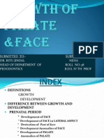 Growth of Palate and Face