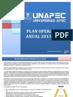 Plan Operativo Anual POA 2013-2014
