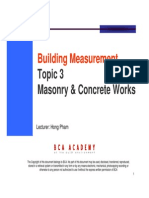 Topic 3 - Concrete and Masonry