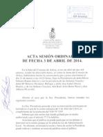 Acta Sesión Ordinaria 03-04-2014