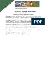 Modelo Resumo Simpósio Plantas Medicinais Goiânia