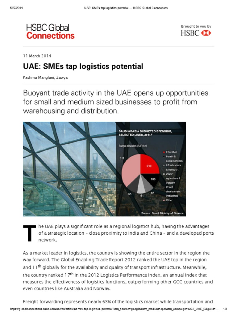 Uae: Smes Tap Logistics Potential Buoyant Trade Activity In