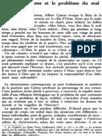 Le Christianisme Et Le Problème Du Mal NRT 113-6 (1991) p.824-838 Michel Fédou